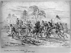 Cavalry charge at Culpeper