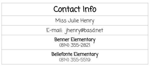 Henry Contact Info