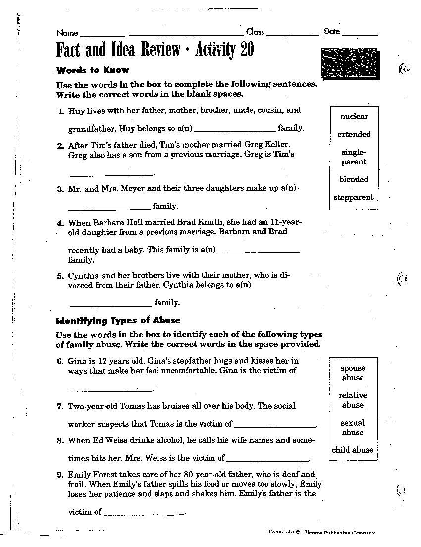High School Health Education Worksheets : Johnson buddy th grade health powerpoint presentations