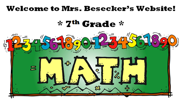 Welcome to 7th Grade Math!