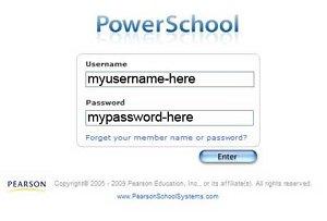 Powerschool login screen