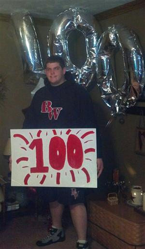 Senior Garrett Poorman gets 100th WIN!